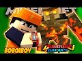 BoBoiboy Galaxy - BOBOIBOY VS TITAN MAGMA GOLEM - Minecraft Animation