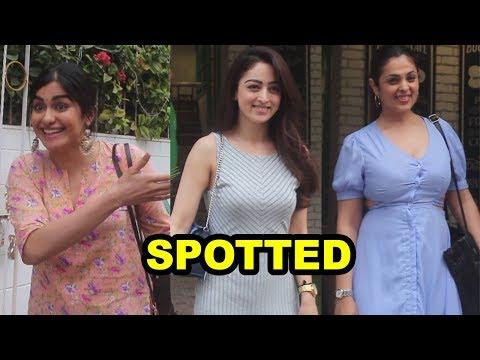 Beautiful Adah Sharma, Sandeepa Dhar & Anjana Spotted at Grandmamas Cafe Juhu