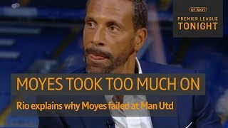 "Video ""He put people's noses out of place."" Ferdinand on Moyes' Man Utd era 