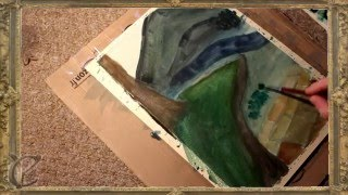 Little Watercolour Landscape Time Lapse | Practice #2
