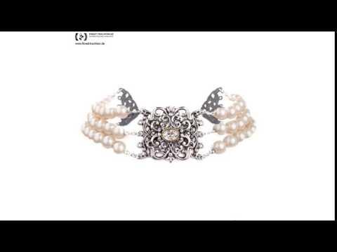 Finest-Trachten.de: Perlenkropfkette in Weiß von Schlick Accessoires
