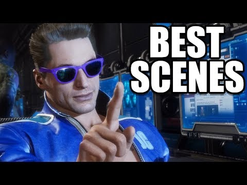MORTAL KOMBAT 11 - Best Johnny Cage Scenes / Funny Moments