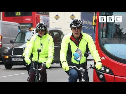 James May and Jeremy Clarkson trying to cycle around London safely | Top Gear - BBC