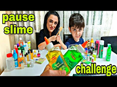 PAUSE SLİME CHALLENGE !!! Eğlenceli video