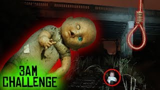 (GONE WRONG) 3 AM OVERNIGHT CHALLENGE / ONE MAN HIDE AND SEEK WITH HAUNTED BABY DOLL (IT WANTS US)