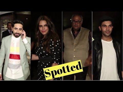 Ayushmann Khurrana, Bony Kapoor, Rajkumar Rao, Neha Dhupia & Other Celebs Spotted At Estella