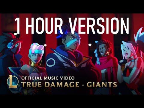 1 HOUR | True Damage - GIANTS (LEAGUE OF LEGENDS)