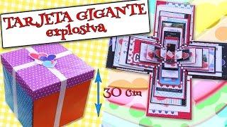 TARJETA GIGANTE Explosiva  AMOR Felicitaciones DÍAS ESPECIALES