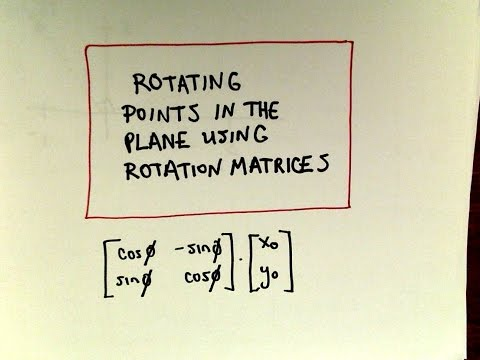 Rotating Points Using Rotation Matrices
