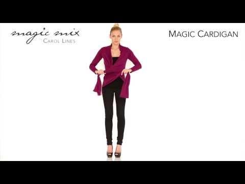 Magic Cardigan - Zauberoberteil als Jackenstola - geknotete Jacke und Wickelshirt