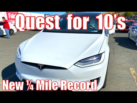 QUEST FOR 10's! Tesla Model X 1/4 Mile Resets Record (Performance, Raven & Cheetah Stance)