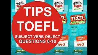 Subject, Verbs, and Objects (Q6-Q10)