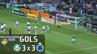 Gols - Palmeiras 3 x 3 Cruzeiro - 1º Jogo Quartas Copa do Brasil 2017 - 28/06/2017 Narração: Odinei Ribeiro Comentários: Wagner Vilaron Estádio: Allianz Parq...
