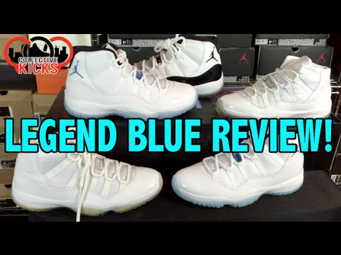 Blue - Try to purchase these here: http://bit.ly/1zJuoQn Here is a detailed video review of the Air Jordan 11 retro legend blue colorway. These released December 20, 2014 in many retailers as a very...