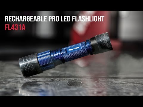 Rechargeable Pro LED Flashlight - Black