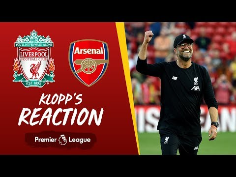 Video: Klopp's reaction | Liverpool vs Arsenal | 'I loved the desire, passion, power and energy we put in'