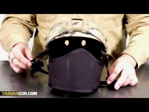 How to fasten face protection for FAST helmets.