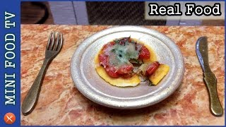 Как сделать миниатюрную пиццу! Приготовления пищи в миниатюре! | #MiniFoodTV