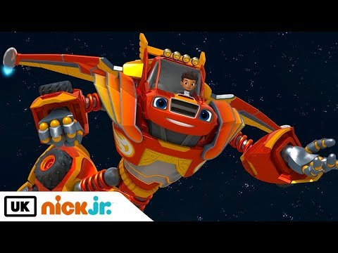 Blaze and the Monster Machines | Robots in Space | Nick Jr. UK