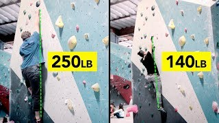 LARGER Climber with GREAT TECHNIQUE! Beta Comparison by  rockentry