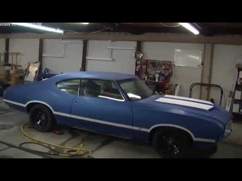 How To Spray Color, Stripes, and Clear on the 1971 Oldsmobile Cutlass S71 Video Part 2 V8TV