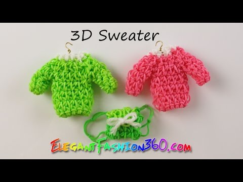 DIY Rainbow Loom Sweater 3D Charm – How to Loom Bands Tutorial