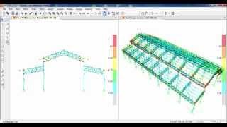 SAP2000-Design of Steel Truss Factory Structure 02/02