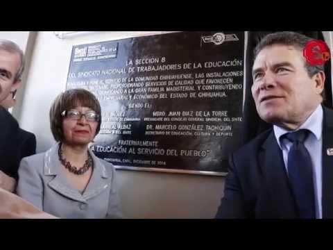 Inaugura SNTE y gobierno de Chihuahua nuevas instalaciones