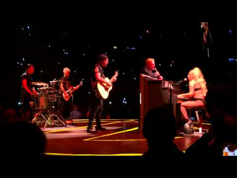 Lady GaGa Joins U2 on stage during show at Madiosn Square Garden.