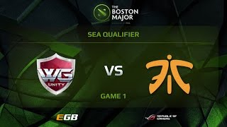 WG.Unity vs Fnatic, Game 1, Boston Major SEA Qualifiers