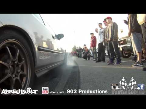 Honda gets busted by cops after burnout