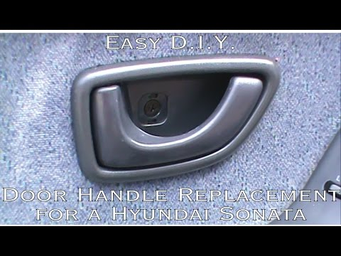 How to Install or Perform an Inside, Front Door Handle Replacement on a 1993-1996 Hyundai Sonata