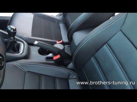 """Чехлы на Volkswagen Jetta 6, серии """"Premium"""" - серая строчка"""