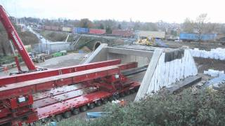 Time Lapse - Rail bridge replacement, Reading (alternative ending)