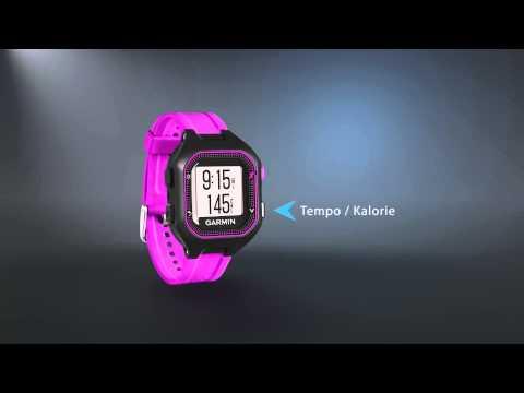 Zegarek sportowy z GPS GARMIN Forerunner 25 HRM + Czujnik tętna Czarno-niebieski 010-01353-51