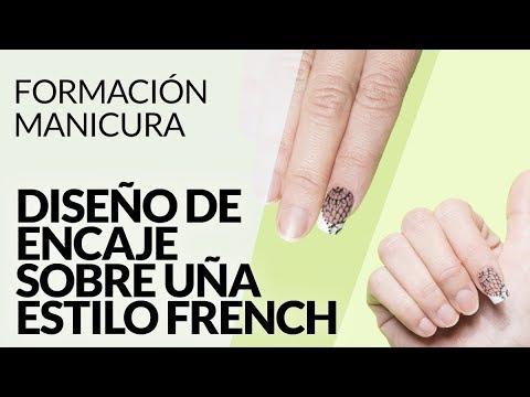 Diseños de uñas - Diseño uña sobre encaje - Estilo French