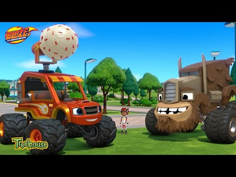 Blaze and the Monster Machines – Clip   Ice Cream Monster Machine   Treehouse