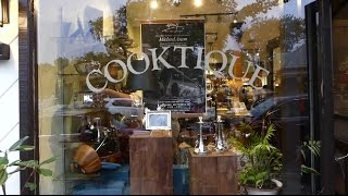 Michael Aram takes part in the celebration of Cooktique's first anniversary