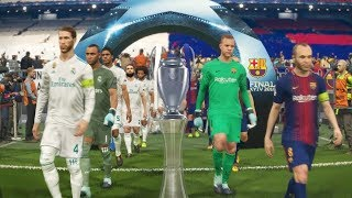 Video PES 2018 UEFA Champions League Final (FC Barcelona vs Real Madrid Gameplay) [legend level] MP3, 3GP, MP4, WEBM, AVI, FLV November 2018