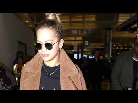 Rita Ora Is Welcomed Back To Los Angeles By A Crowd Of Photographers