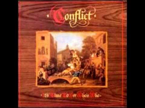 CONFLICT - Its Time To See Whos Who:  01. Young Parasites 0:0002. Kings and Punks 2:1203. Meat Means Murder 3:2104. No Island of Dreams 5:2205. Great What 8:0706. The Guilt and the Glory 10:0407. 1824 Overture 13:3408. Bullshit Broadcast 15:1309. One Nation Under the Bomb 17:0310. Blind Attack 18:2811. Vietnam Serenade 20:0412. Blood Morons 21:1613. Exploitation 23:0314. Crazy Governments 25:13