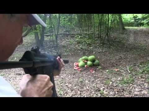 Mp5 - How about some quiet watermelon destruction! Sidearm employed is a Glock 23, of course. http://www.silencerco.com/ http://www.youtube.com/user/Silencerco Aga...