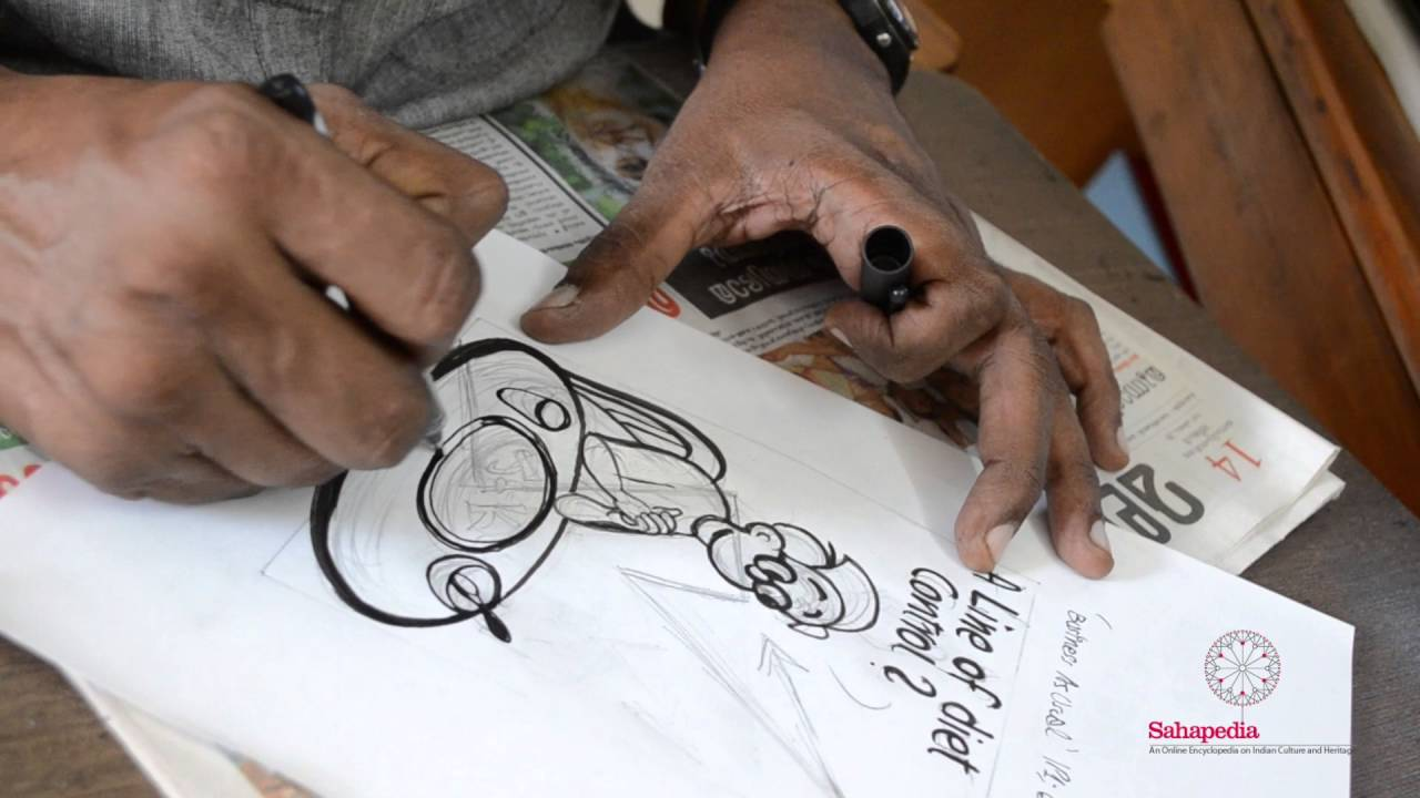 A Cartoonist At Work: E.P. Unny filing for the day