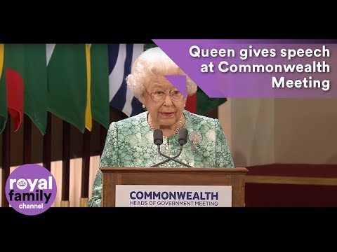 The Queen makes speech at Commonwealth Heads of Government Meeting (видео)