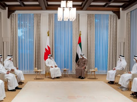 HRH the Crown Prince and Prime Minister meets with HH Sheikh Mohammed bin Zayed Al Nahyan