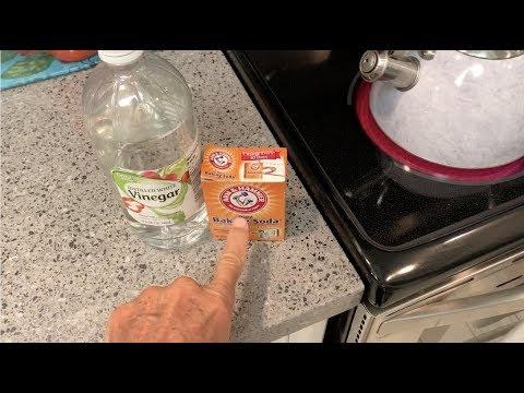 How to unclog your drain with hot water, white  vinegar and baking soda