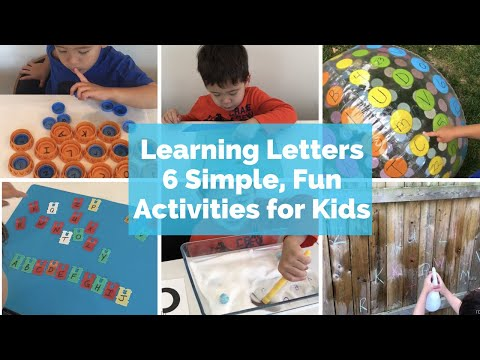 Letter Recognition Activities for Preschoolers and Kindergarteners, Learning Letters for Toddlers