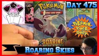 Pokemon Pack Daily Roaring Skies Booster Opening Day 475 - Featuring CuriousCleffa TCG by ThePokeCapital