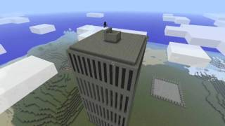 9/11 Minecraft Tribute - Twin towers: Timelapse