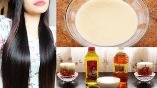DIY Hair Mask for Frizzy Dry and Damage Hair and Hair Growth - YouTube